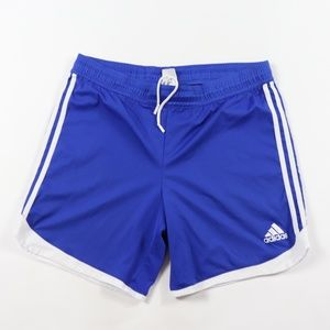 Vintage Adidas Spell Out Striped Soccer Shorts L